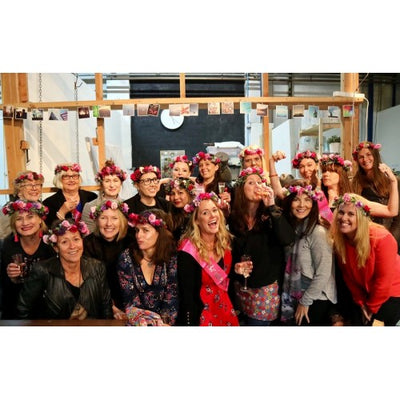 Hens party flower crown workshops