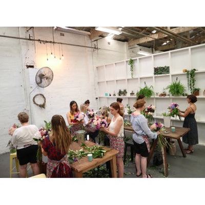 The first floral workshop of 2018