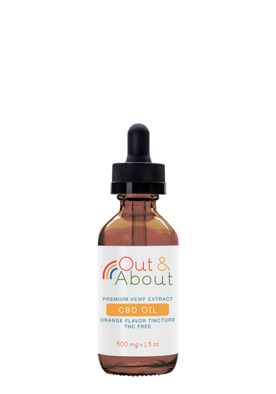 CBD Oil Tincture - 500mg, 1 fl oz