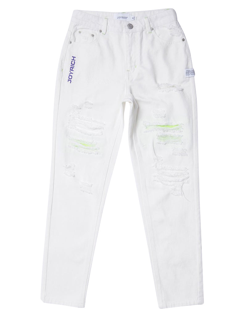 Joyrich Get Ripped Jeans</Br>Off White</Br>