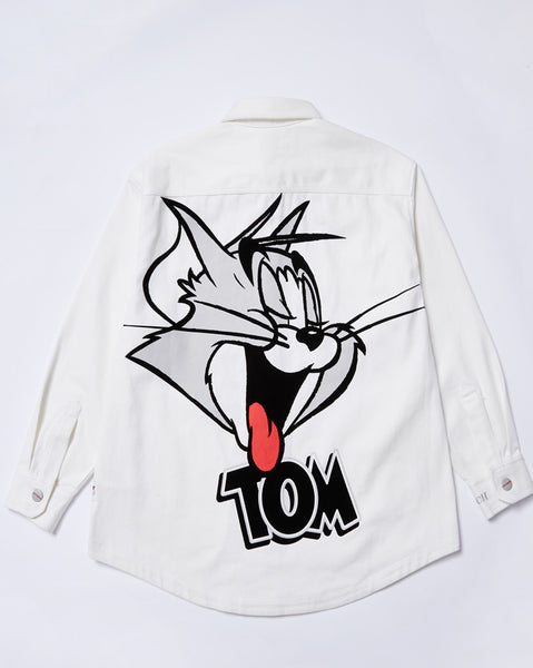 Tom & Jerry Catch Me L/S Denim Shirt</Br>Off White</Br>