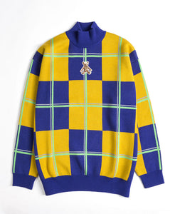 Teddy Square Crew Sweat</Br>Yellow</Br>