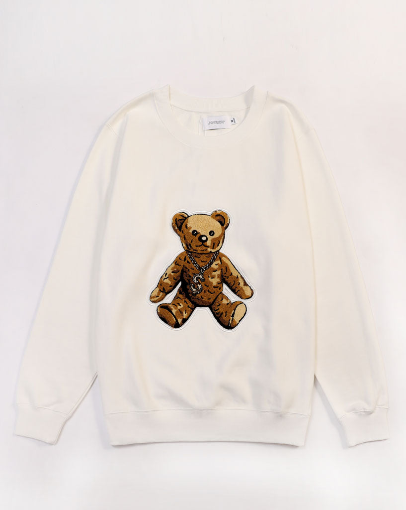 Furry Teddy Crew Sweat</Br>Off White</Br>