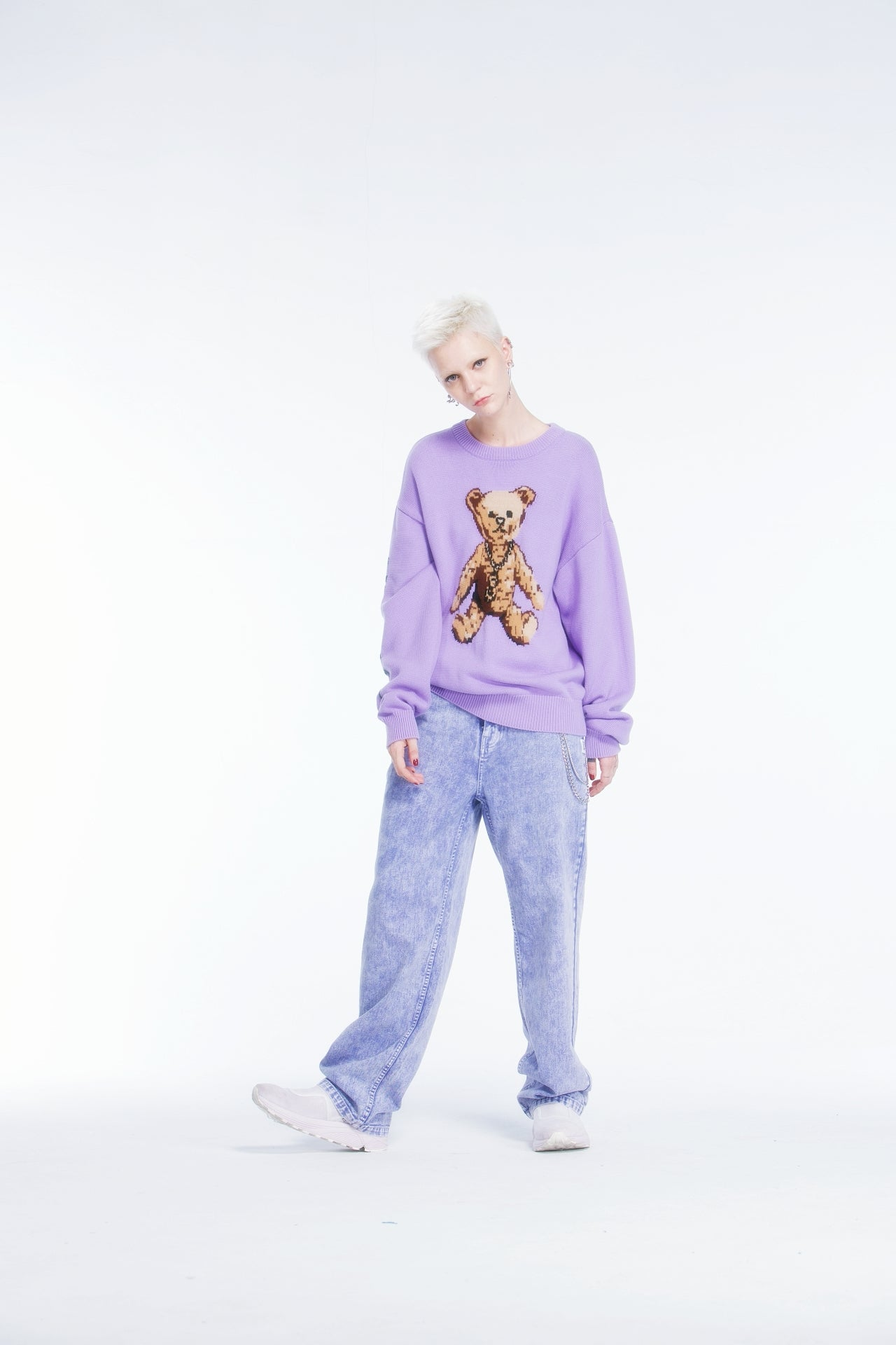 Joyrich The Big Teddy Knit Sweater</Br>Purple</Br>