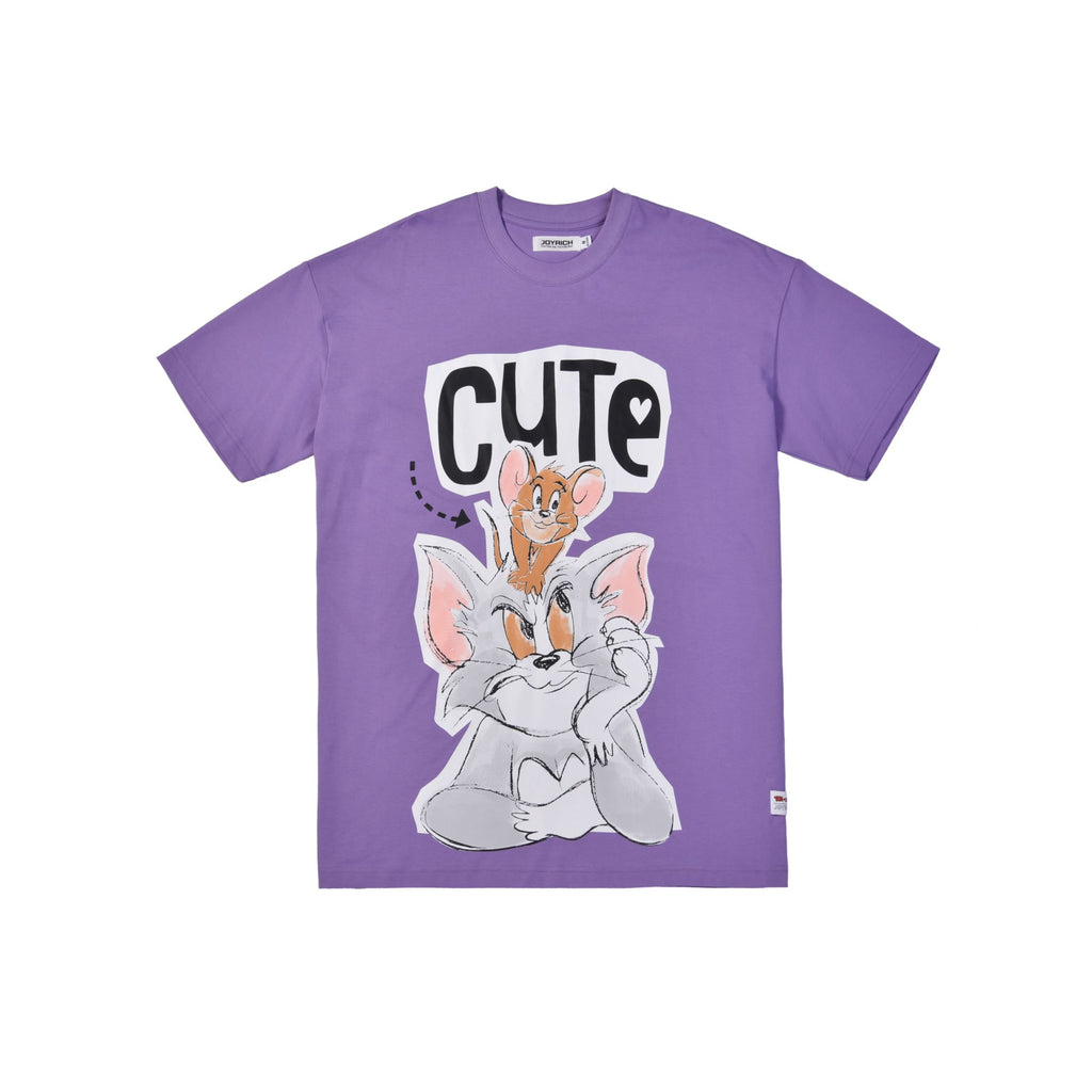Tom & Jerry O/S Tee</Br>Purple</Br>
