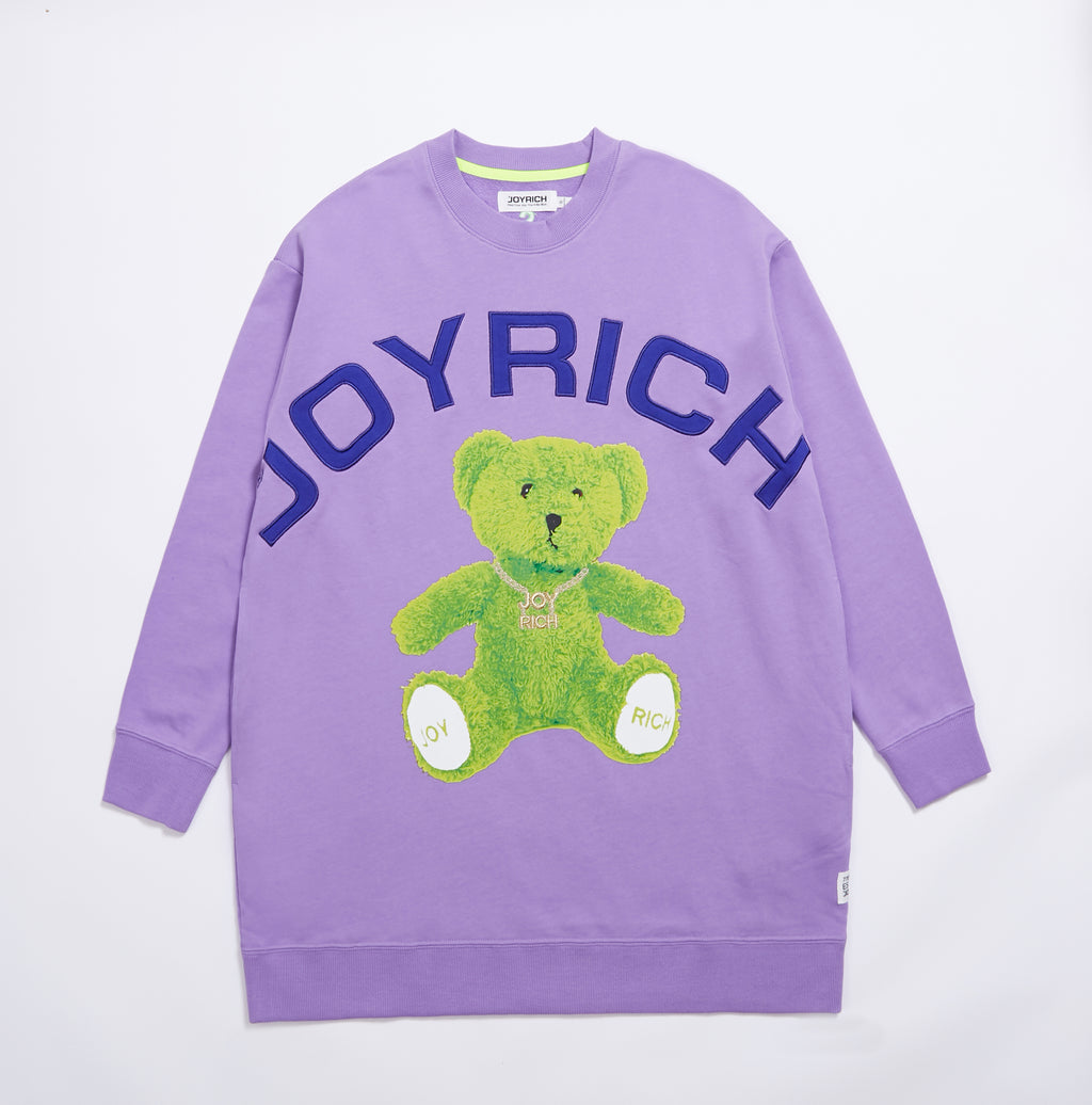 Joyrich Banger Teddy OS Sweat</Br>Purple</Br>