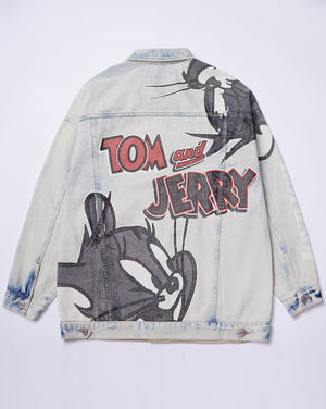 Tom & Jerry Denim Jacket</Br>Light Blue</Br>
