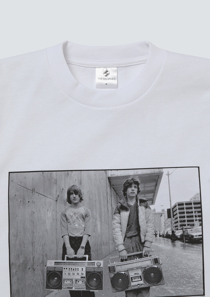 [TOKION EXCLUSIVE] THE SALVAGES × MARY ELLEN MARK | BOOMBOXES T-SHIRT