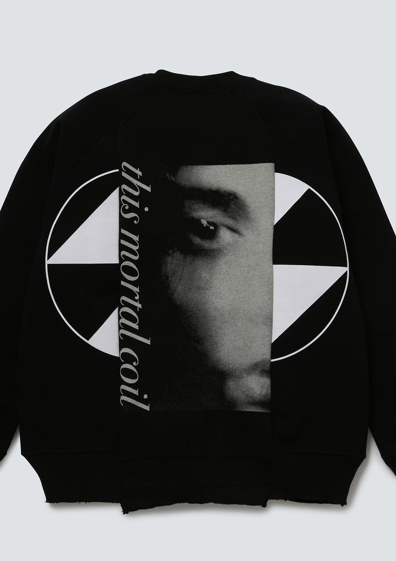 The Salvages | Reconstructed Eyes Raglan Crewneck Sweat