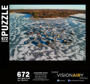 Carson Bay Ice Fishing Jigsaw Puzzle
