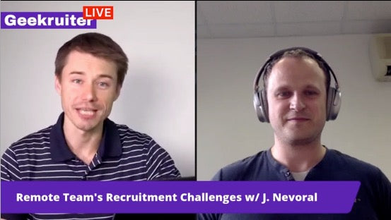 [Live] Recruitment And Hiring Challenges By Josef Nevoral