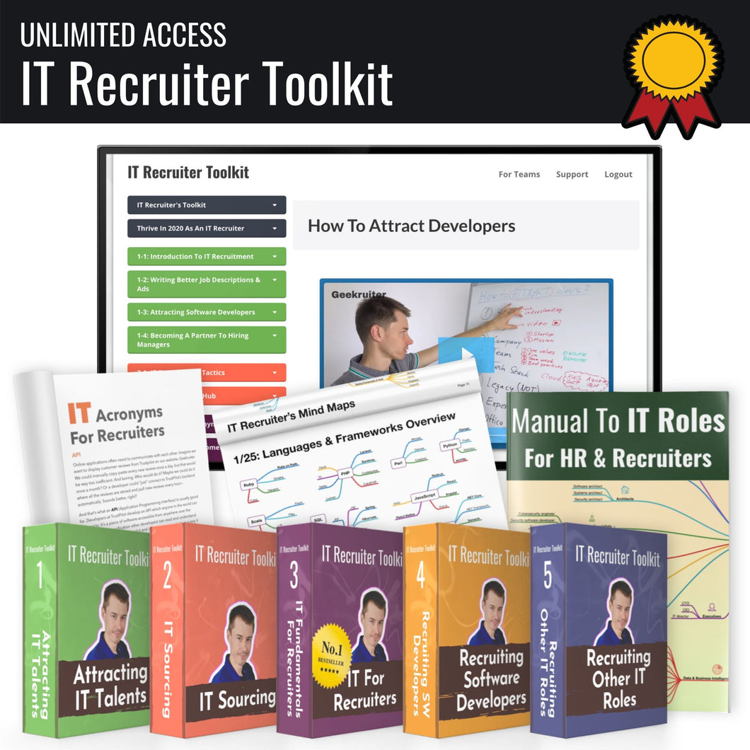 IT Recruiter Toolkit (Course & CERTIFICATION)
