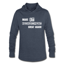 Load image into Gallery viewer, Make IT Recruitment Great Again | Unisex Tri-Blend Hoodie Shirt - heather blue