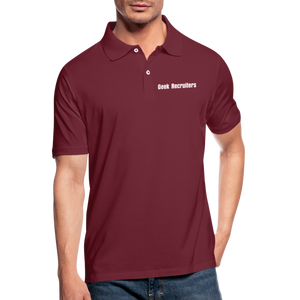 Geek Recruiters | Men's Polo Shirt Slim - bordeaux