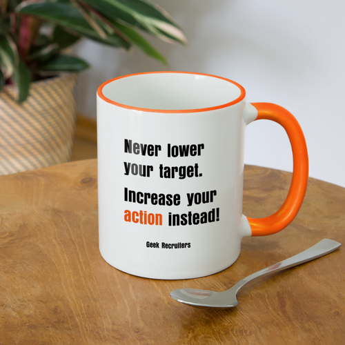 Increase Your Action | Contrasting Mug - white/orange