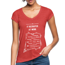 Load image into Gallery viewer, Word Cloud | Women's Vintage T-Shirt - heather red