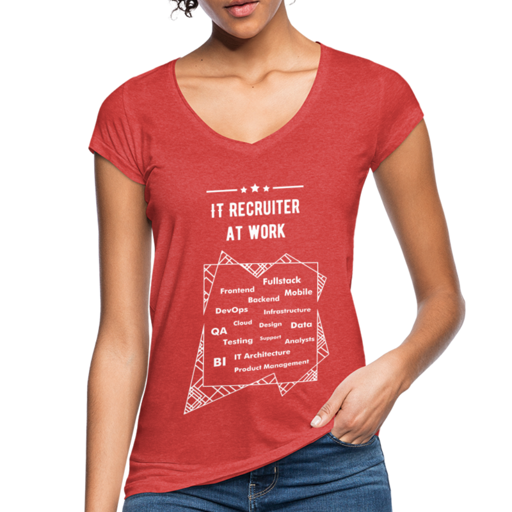 Word Cloud | Women's Vintage T-Shirt - heather red