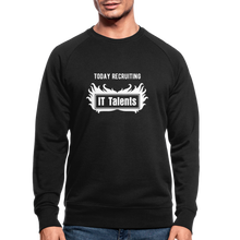 Load image into Gallery viewer, Today Recruiting | Men's Organic Sweatshirt by Stanley & Stella - black