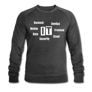 Men's Organic Sweatshirt by Stanley & Stella | IT Mind Map - dark grey heather