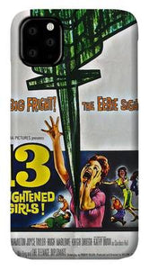 13 Frightened Girls - 1963 - Vintage Movie Poster iphone 11 case