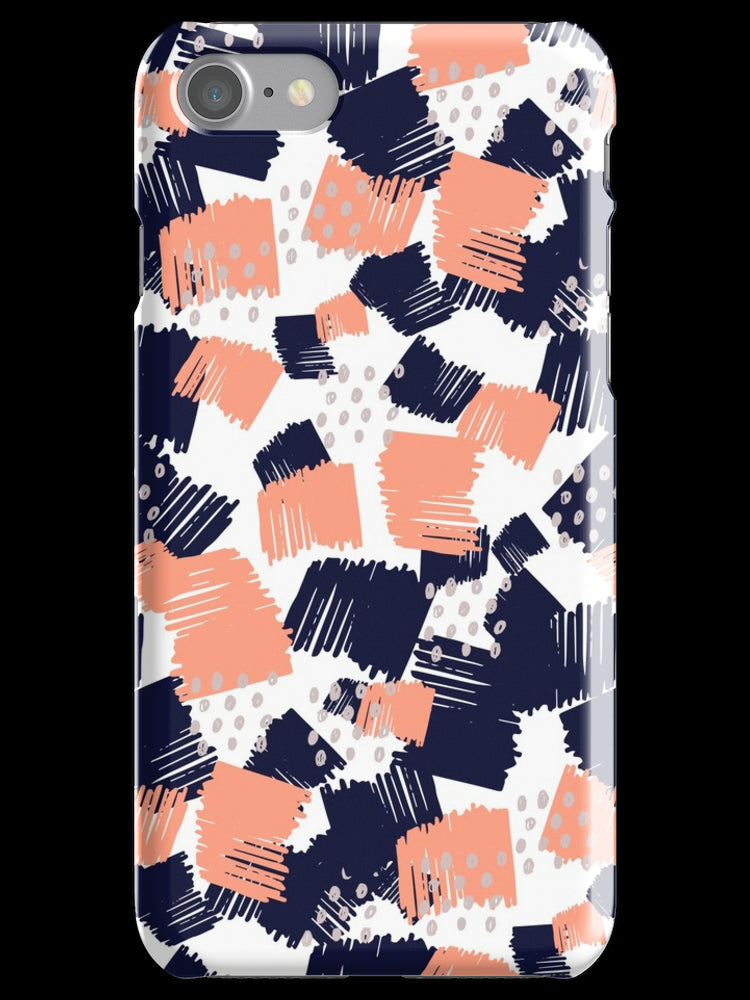 Buffer // Abstract Scribble Pattern Pink iPhone 11 case