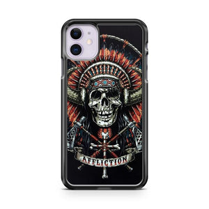 AFFLICTION INDIAN SKULL iphone 5/6/7/8/X/XS/XR/11 pro case cover