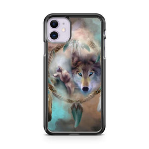 Arctic Wolf Huskey Dream Catcher iphone 5/6/7/8/X/XS/XR/11 pro case cover