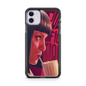 pulp fiction mia poster iphone 5/6/7/8/X/XS/XR/11 pro case cover