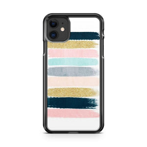 Brushstroke Glitter Trendy Girly 3 iphone 5/6/7/8/X/XS/XR/11 pro case cover - Goldufo Case