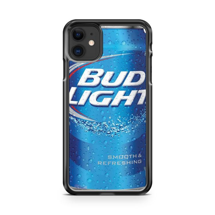 Bud Light Beer Can Ice Drink 4 iphone 5/6/7/8/X/XS/XR/11 pro case cover