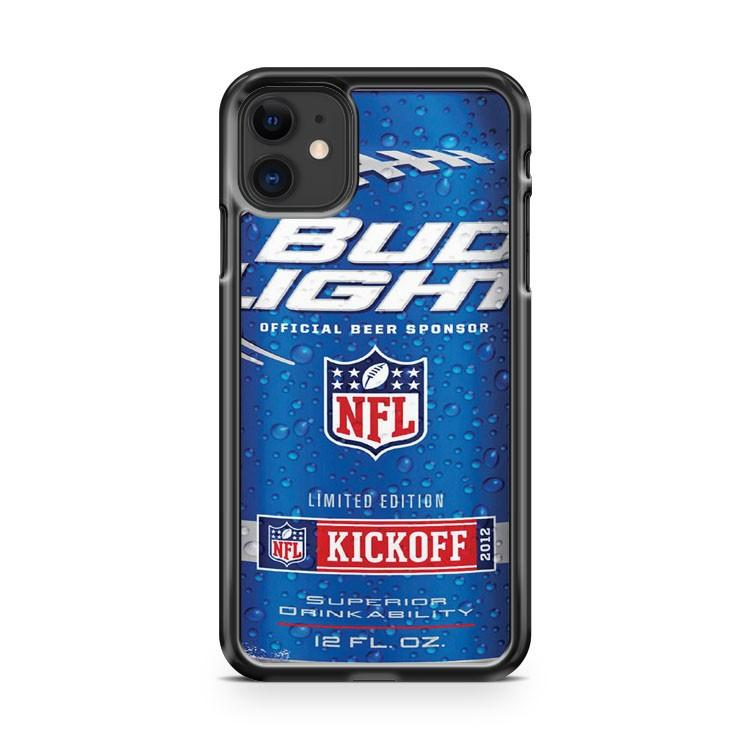 Bud Light NFL Kickoff Can Cold 2 iphone 5/6/7/8/X/XS/XR/11 pro case cover