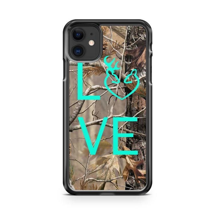 Camo Browning Buck Love 2 iphone 5/6/7/8/X/XS/XR/11 pro case cover