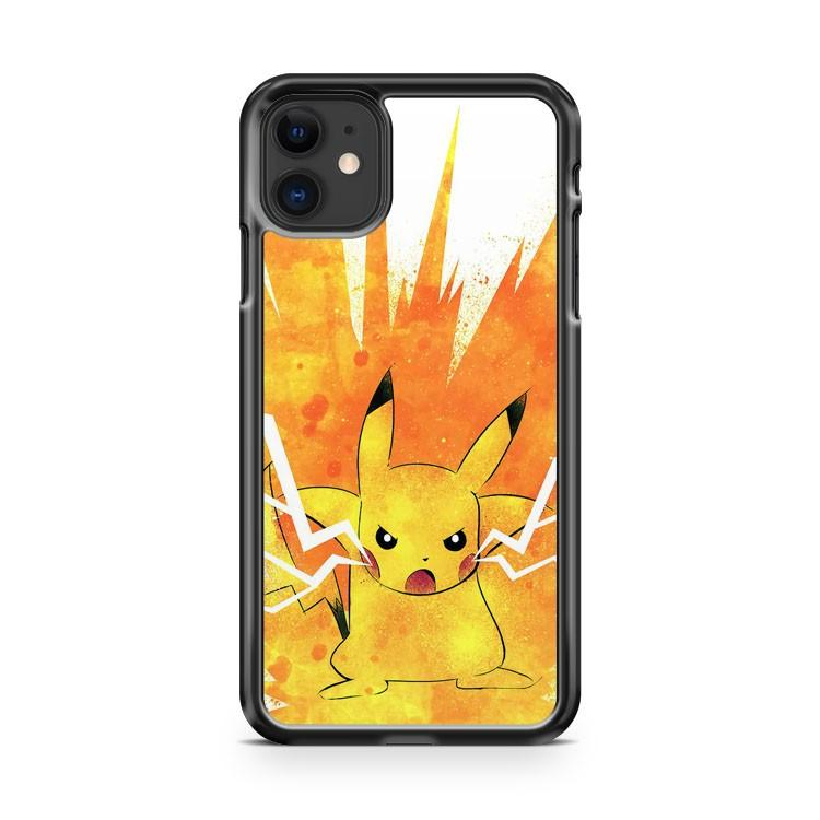 pokemon pikachu art painting iphone 5/6/7/8/X/XS/XR/11 pro case cover