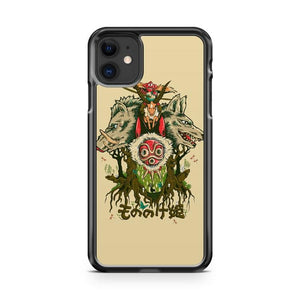 princess mononoke 4 iphone 5/6/7/8/X/XS/XR/11 pro case cover