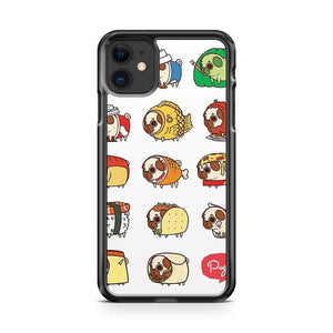 Pug Food 2 iphone 5/6/7/8/X/XS/XR/11 pro case cover