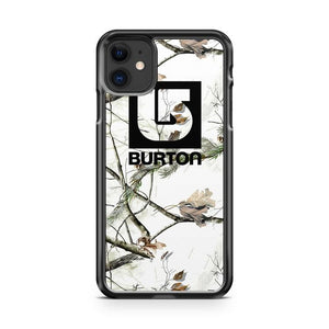 white snow camo burton snowboard iphone 5/6/7/8/X/XS/XR/11 pro case cover