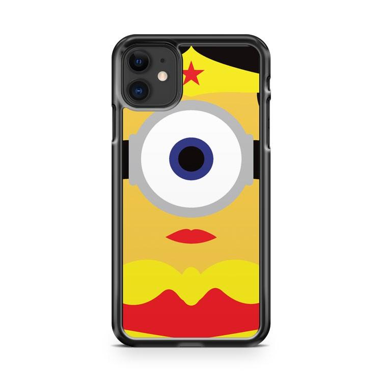 Wonder Woman Minion 2 iphone 5/6/7/8/X/XS/XR/11 pro case cover