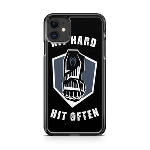 WWE ROMAN REIGNS HIT HARD HIT OFTEN 2 iphone 5/6/7/8/X/XS/XR/11 pro case cover
