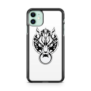 CLOUD STRIFE S WOLF EMBLEM BLACK iphone 5/6/7/8/X/XS/XR/11 pro case cover