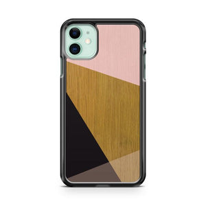 Wood Block Pink iphone 5/6/7/8/X/XS/XR/11 pro case cover