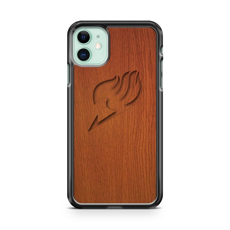 Wood Fairy Tail Logo iphone 5/6/7/8/X/XS/XR/11 pro case cover