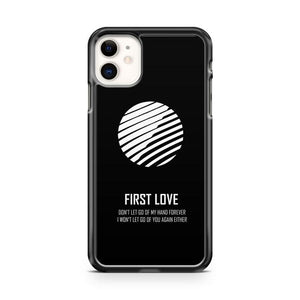 BTS SUGA First Love Logo iphone 5/6/7/8/X/XS/XR/11 pro case cover