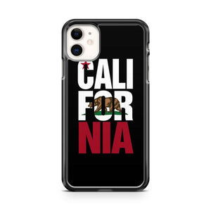 California Bear Flag Typography Art iphone 5/6/7/8/X/XS/XR/11 pro case cover