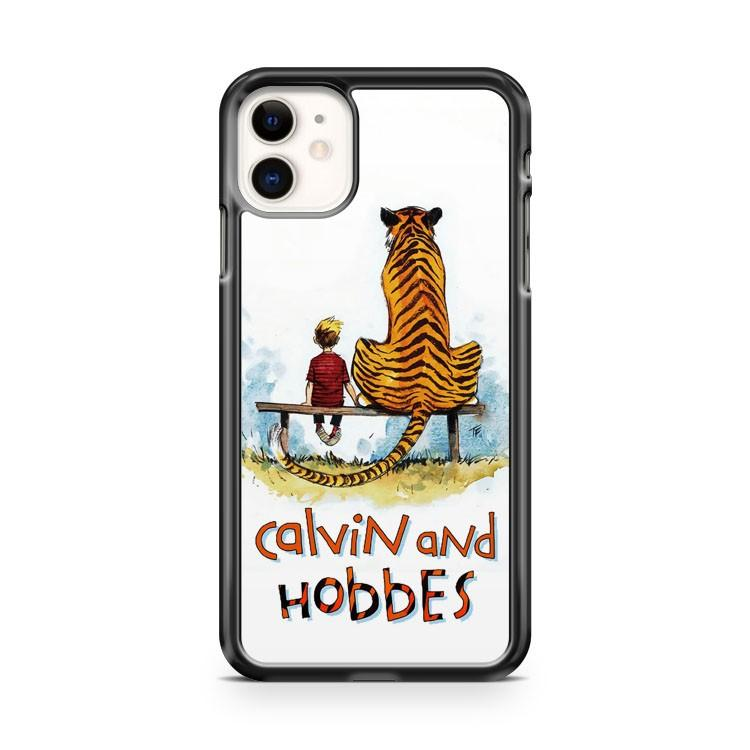 calvin and hobbes art iphone 5/6/7/8/X/XS/XR/11 pro case cover