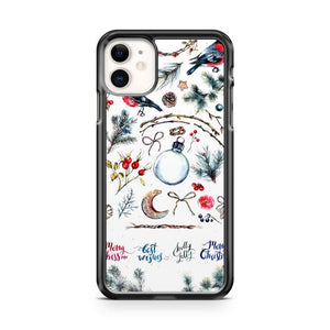 christmas pattern art iphone 5/6/7/8/X/XS/XR/11 pro case cover