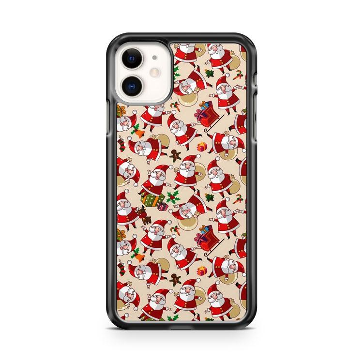 Christmas Santa Pattern iphone 5/6/7/8/X/XS/XR/11 pro case cover