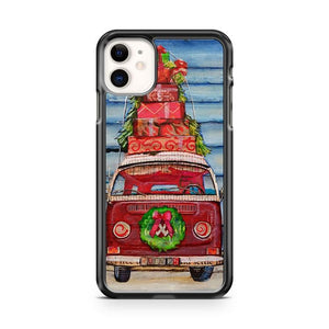 Christmas Vw Volkswagen Bus with wreath iphone 5/6/7/8/X/XS/XR/11 pro case cover