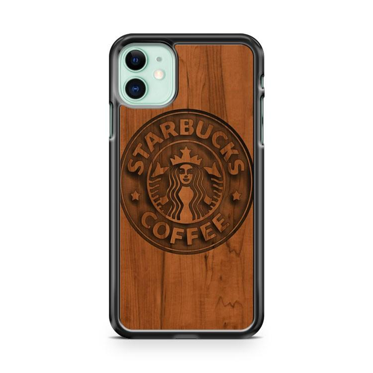 Wooden Starbucks iphone 5/6/7/8/X/XS/XR/11 pro case cover