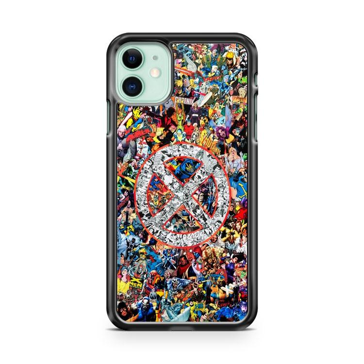 X Men Marvel Universe Collage iphone 5/6/7/8/X/XS/XR/11 pro case cover