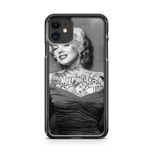Alternative Tattooed Marilyn Monroe iphone 5/6/7/8/X/XS/XR/11 pro case cover